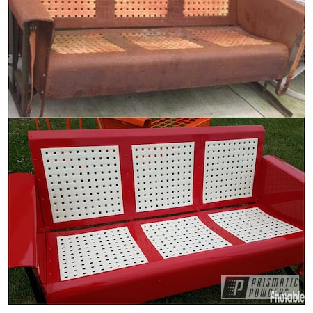 Powder Coating: RAL 1013 Oyster White,2 Color Application,Custom Two Tone,3 Person Glider,Outdoor Bench,RAL 3002 Carmine Red,Miscellaneous