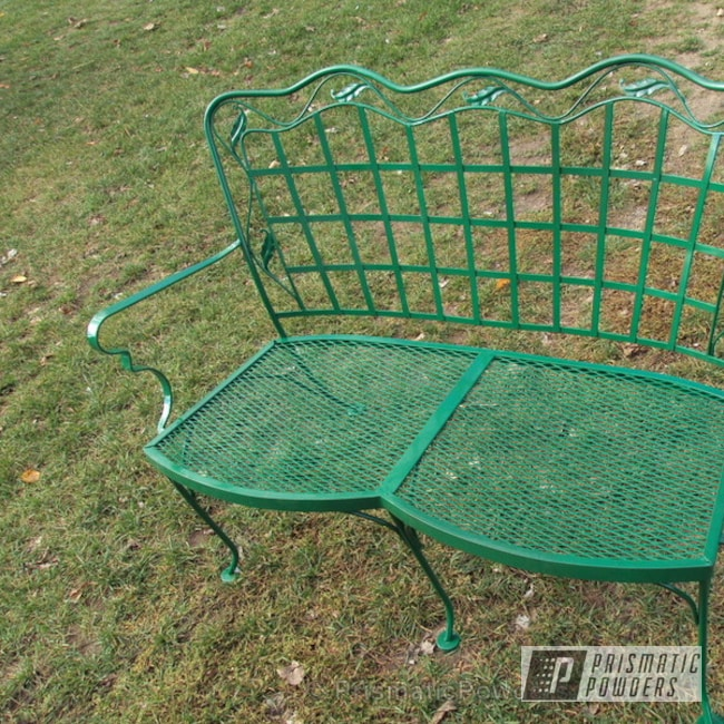 Powder Coating: Custom,powder coating,powder coated,Prismatic Powders,Redwood Green PSB-4075,green,Furniture,Patio seat