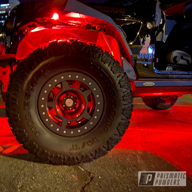 Powder Coating: Wheels,Automotive,Clear Vision PPS-2974,Anodized Red PPB-5936,Jeep,Aluminum Wheels