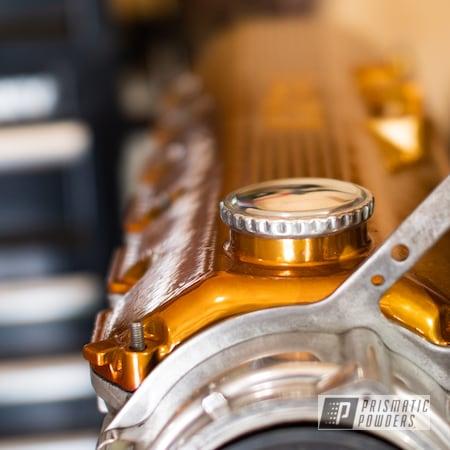 Powder Coating: Automotive,BMW,BMW 3 Series 325i,BMW E30 Valve Cover,Transparent Gold PPS-5139,Valve Cover,Automotive Parts