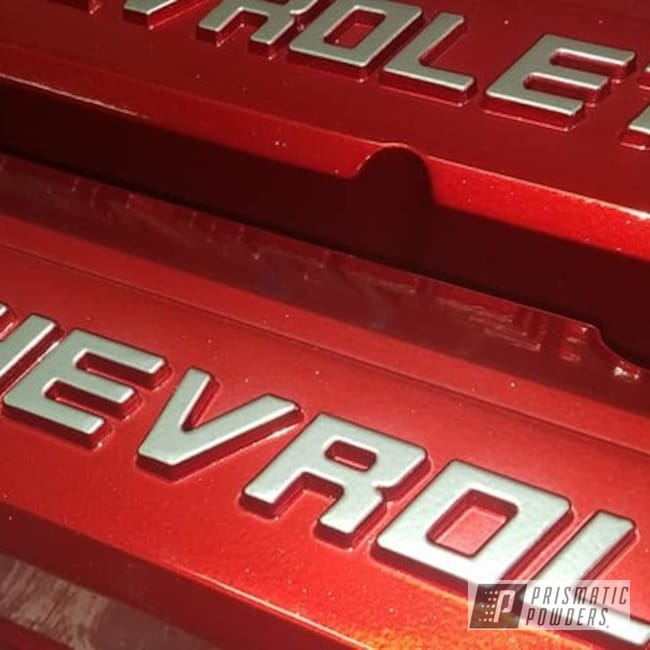 Powder Coating: Automotive,POLISHED ALUMINUM HSS-2345,Valve Covers,Chevrolet Engine Parts,WILDER RED UPB-4842,Transparents