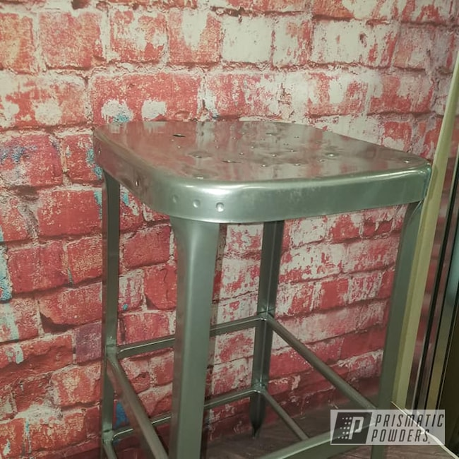 Powder Coating: Clear Vision PPS-2974,POLISHED ALUMINUM HSS-2345,Patio Furniture,Bar Stool,Outdoor Furniture,Furniture