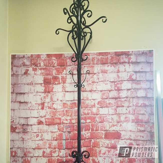 Powder Coating: Ink Black PSS-0106,Vintage,Home Decor,Coat Rack ,Ornate Metal Work