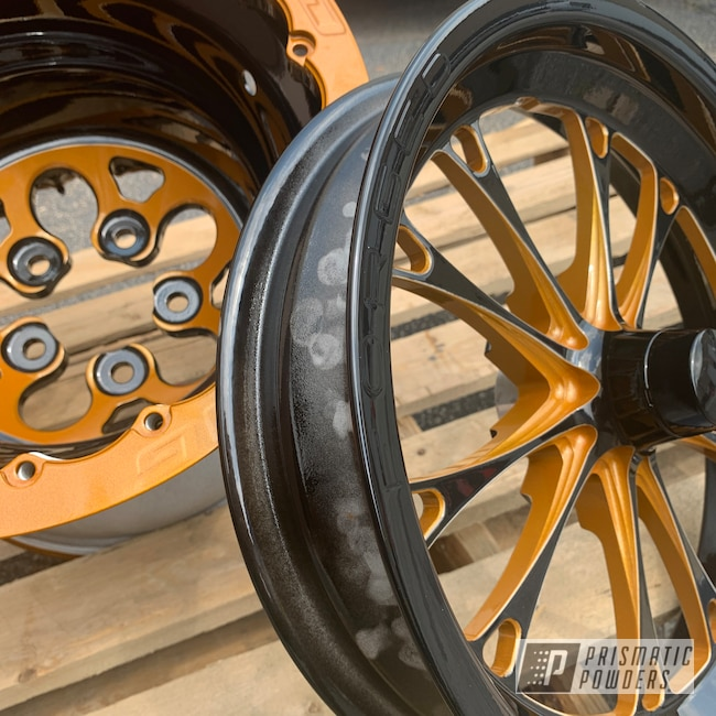 Powder Coating: Automotive,Clear Vision PPS-2974,Illusion Spanish Fly PMB-6920,Ink Black PSS-0106,Weld Racing,Drag Wheels,WELD Wheels,Aluminum Wheels