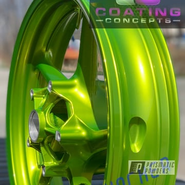 Powder Coated Yamaha R1 Wheels In Pps-2974 And Pmb-10050