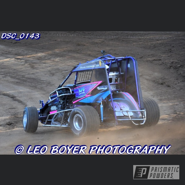 Powder Coating: HYPER,Automotive,x4,Plue PPB-5630,Race Car,Micro Sprint,600cc