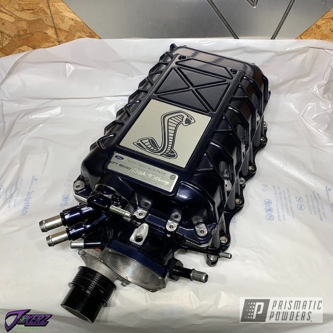 Powder Coating: Automotive,Misty Black Raspberry PMB-1708,Engine Parts,gt500,Car Parts,Ford,Automotive Parts,Mustang,Supercharger