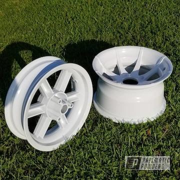 Powder Coated Honda Ruckus Frame And Wheels In Pss-5690 And Ppb-6415
