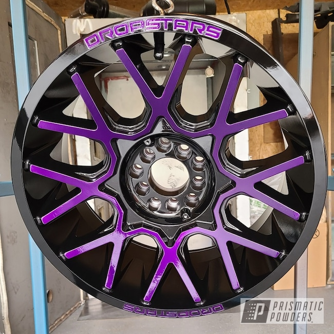 Powder Coating: Illusion Purple PSB-4629,Wheels,Automotive,Clear Vision PPS-2974,Jeep,Aluminum Wheels