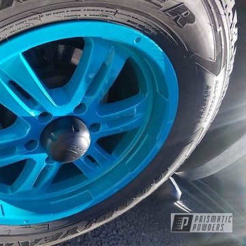 Powder Coated Refinished Toyota Wheels In Ppb-6613