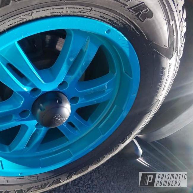 Powder Coating: Wheels,Automotive,BMW Blue PPB-6613,Toyota,Automotive Wheels