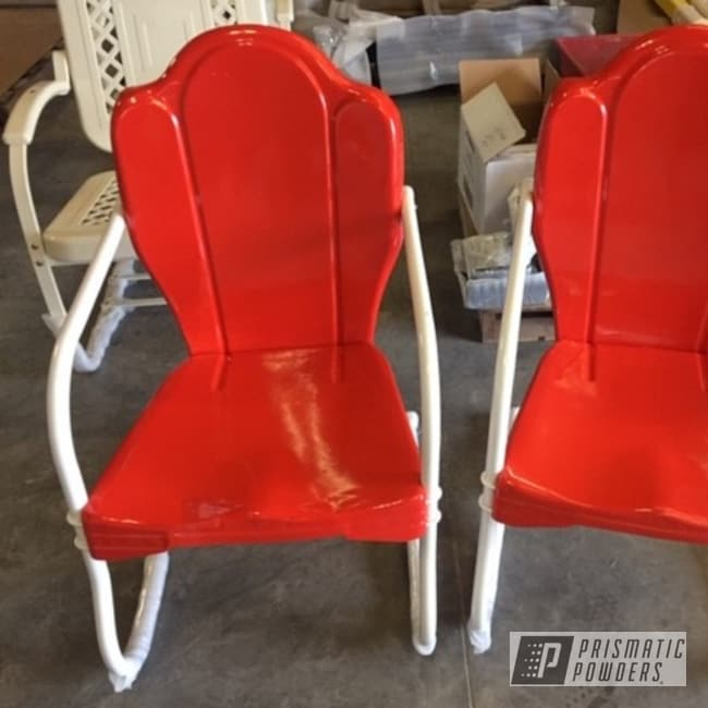 Powder Coating: Vintage Chairs,Patio Chairs,Patio Furniture,Custom Patio Furniture,Cabot Orange PSS-1429