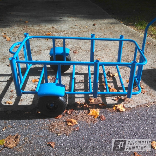 Powder Coating: Custom,Oh So Blue PSS-2965,Custom Fishing Carts,blue,powder coating,powder coated,Prismatic Powders,Altered Clear PPB-4706,Miscellaneous