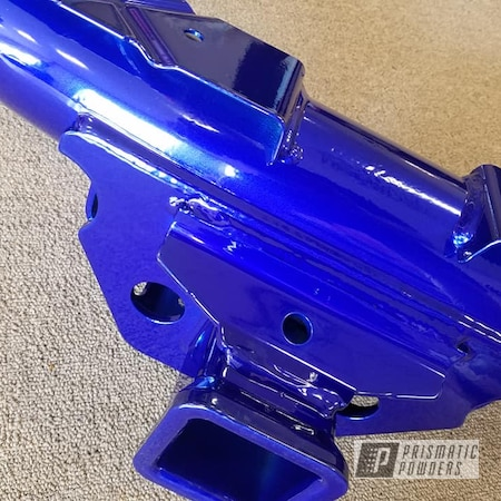 Powder Coating: Automotive,DUSTED CANDY BLUE UPB-6743,Trailering,Blue,Two Coat Application,Cosmic Blue PMB-1803,Trailer Hitch
