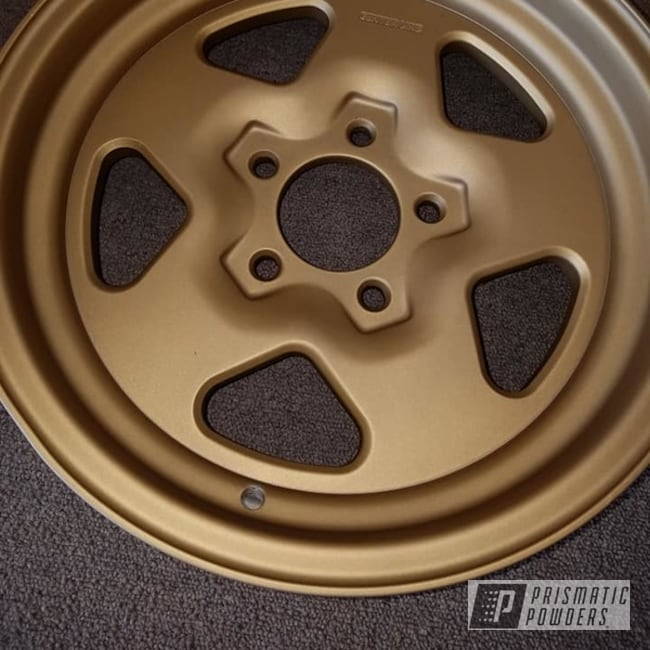 Powder Coated 16 Inch Aluminum Rims In Pps-4005 And Umb-0888