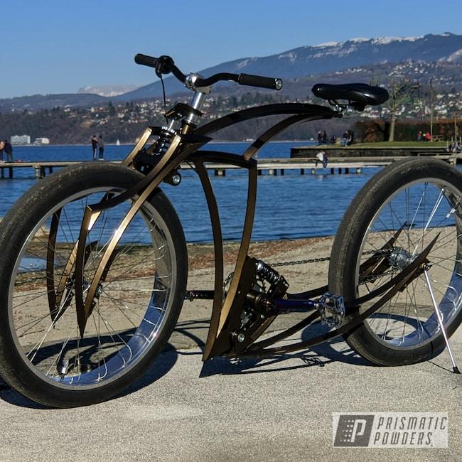 Powder Coating: Bicycles,Bronze Chrome PMB-4124,Bike Parts,Bicycle,Frame,Bicycle Frame