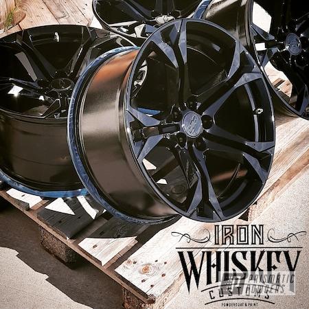 Powder Coating: Wheels,Automotive,Ink Black PSS-0106,Epoxy Primer ESS-6518,Aluminum Wheels