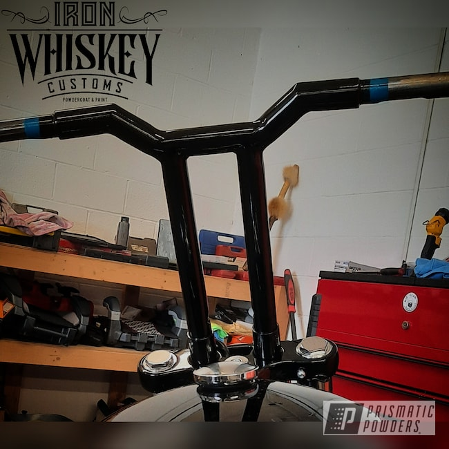 Powder Coating: Automotive,Ink Black PSS-0106,handle bars,Motorcycles,#tbars