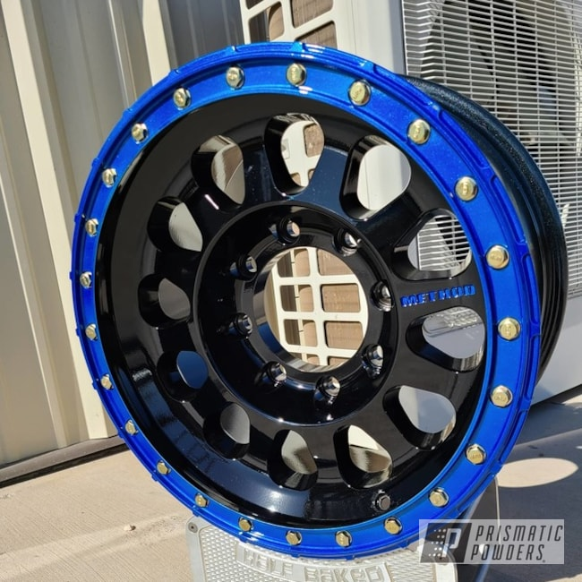 Powder Coating: Wheels,Automotive,Clear Vision PPS-2974,Ink Black PSS-0106,Method,Illusion Blueberry PMB-6908,Super Duty