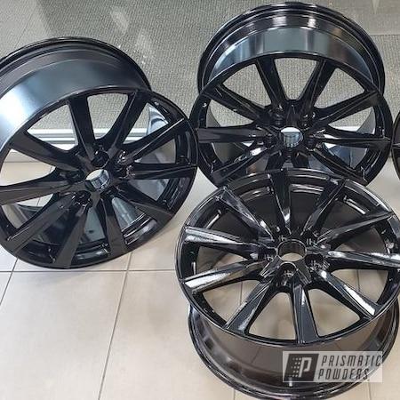 "Powder Coating: Wheels,19"",Automotive,Lexus,Ink Black PSS-0106,Lexus ISF,Aluminum Wheels"