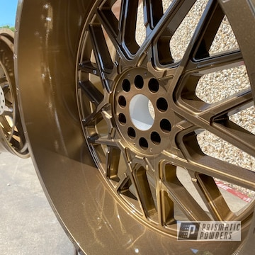 Powder Coated Ford Wheels In Pps-2974 And Pmb-5860