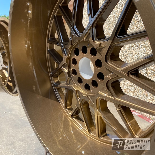 Powder Coating: Wheels,Automotive,Clear Vision PPS-2974,#TIS,Highland Bronze PMB-5860,Ford