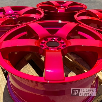 Powder Coated Set Of Wheels In Pps-5875
