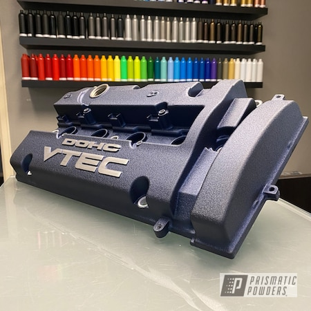 Powder Coating: Wetstone Midnight II PWB-2589,Automotive,Car Parts,DOHC VTEC,Valve Cover