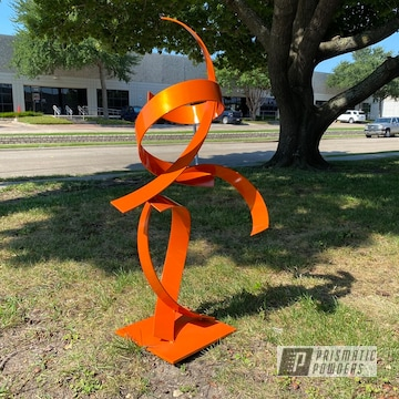 Powder Coated Metal Sculpture In Pms-4620