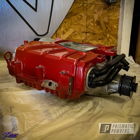 Powder Coating: Automotive,Audi,Audi Supercharger,Very Red PSS-4971,Car Parts,Supercharger