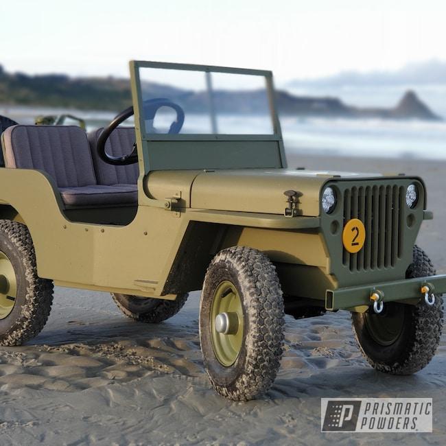 Powder Coating: Wheels,Toylander,ARMY,MB Willys Jeep,Jeep,Willys Jeep,Army Green PSB-4944