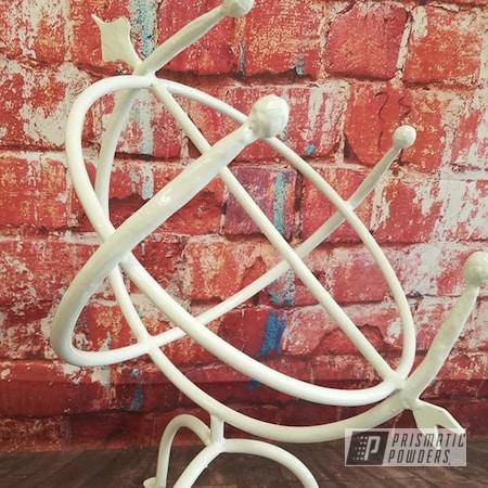 Powder Coating: Metal Art,Yard Art,Gloss White PSS-5690