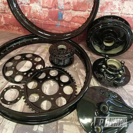 Powder Coating: Automotive,Harley Davidson Parts,Harley Davidson,Motorcycle Parts,Ink Black PSS-0106,Motorcycle Fender,Motorcycles