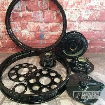 Powder Coated Harley Davidson Motorcycle Parts In Pss-0106