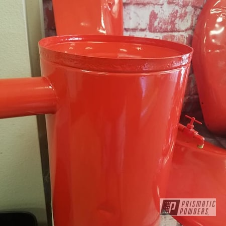 Powder Coating: Tractor Parts,Allis Chalmers,Farming,Cabot Orange PSS-1429,Tractor Restoration