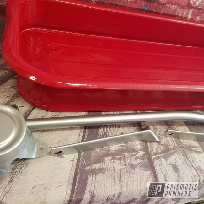 Powder Coating: Vintage,Crushed Silver PMB-1544,RAL 3002 Carmine Red,Radio Flyer Wagon