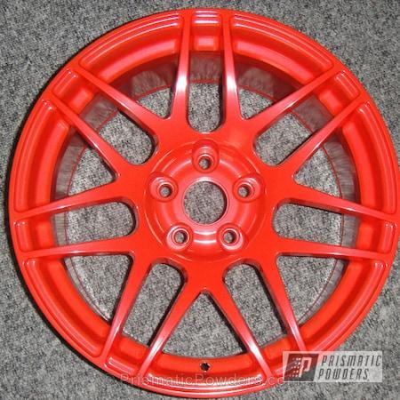 Powder Coating: Wheels,Custom,Forgestar F14 wheel,Red,powder coating,powder coated,Prismatic Powders,Harley Orange PMB-2829