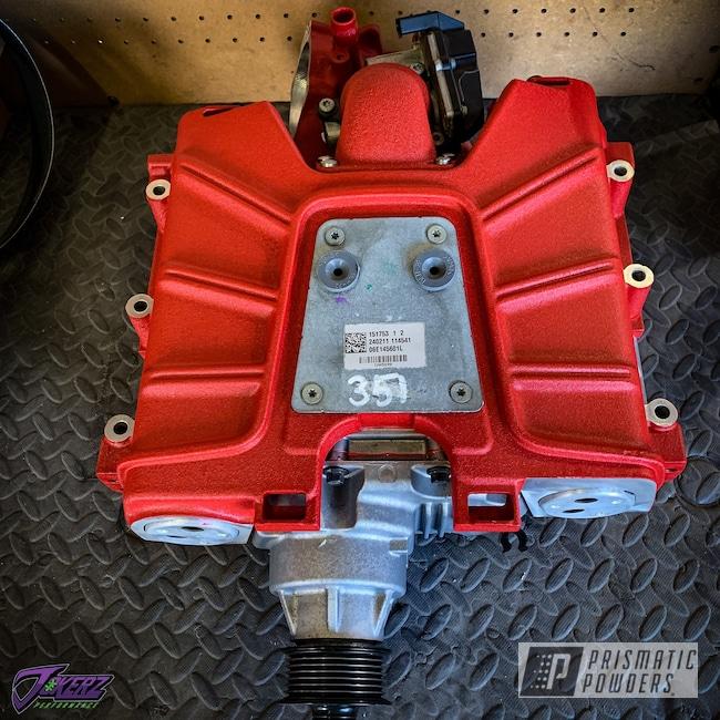 Powder Coating: Automotive,Audi,Audi Supercharger,Car Parts,Desert Red Wrinkle PWS-2762,q7,Audi A4,Supercharger