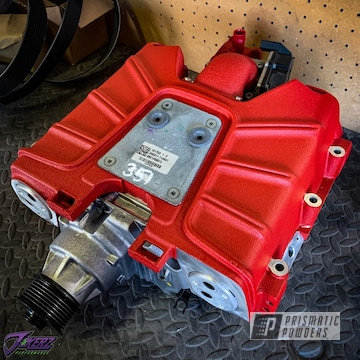Powder Coated Red Audi A4 Supercharger