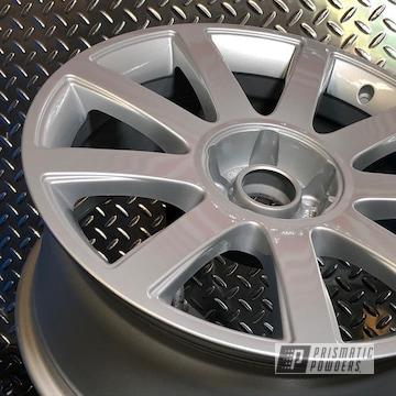 Powder Coated Wheels In Bmw Silver