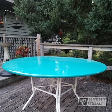 Powder Coated Retro Patio Table In Pss-2791 And Ral 9010