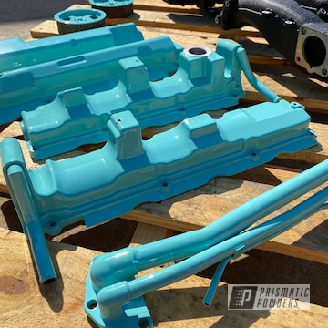 Powder Coated Nissan Valve Cover And Parts In Pps-2974