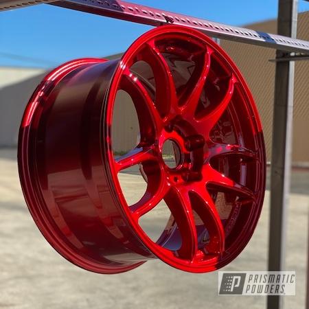 Powder Coating: Wheels,Automotive,LOLLYPOP RED UPS-1506,Automotive Rims