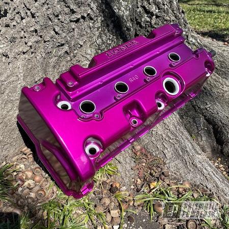Powder Coating: Automotive,Clear Vision PPS-2974,Honda,Acura,Illusion Violet PSS-4514,Valve Cover,Automotive Parts
