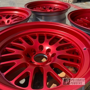 Powder Coated Refinished Set Of Rims In Ppb-5936