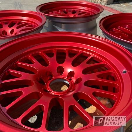 Powder Coating: Wheels,Automotive,Anodized Red PPB-5936,Automotive Wheels