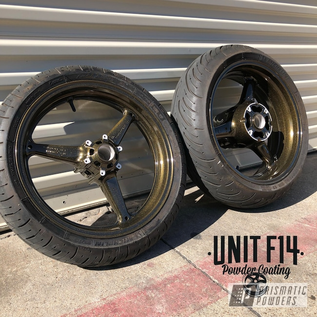 Powder Coating: Wheels,Automotive,Motorcycle Rims,Ink Black PSS-0106,Motorcycles,Automotive Rims,KING MIDAS UPB-3033