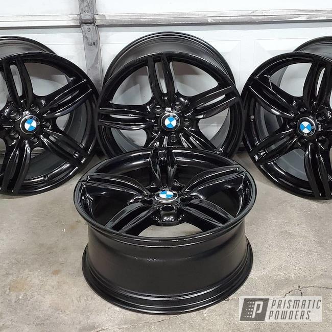 Powder Coating: Wheels,Automotive,GLOSS BLACK USS-2603,BMW,BMW 650i,Aluminum Wheels