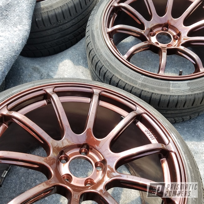 Powder Coating: Wheels,Automotive,rockin rims,Clear Vision PPS-2974,Applied Plastic Coatings,Penny Chips PMB-6796,Automotive Wheels