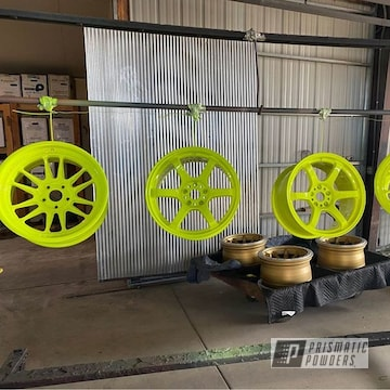 Powder Coated Custom Set Of Rockin Rims In Pss-1104